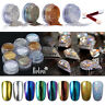 Belen Shiny Mirror Effect Chrome Powder With Sponge Stick UV LED Nail Art DIY US