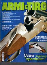 ARMI E TIRO N°9/2003 MUNIZIONI TUTTO SU 9,3X62 E PALLETTONI PISTOLA VS REVOLVER