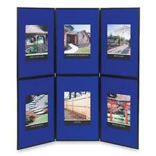 QUARTET SB93516Q SHOW IT 6 PANEL DISPLAY SYSTEM 6' X 6' DOUBLE SIDED BLUE GRAY
