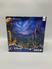 Thomas Kinkade Disney Beauty And The Beast Puzzle Dancing In The Moonlight 300