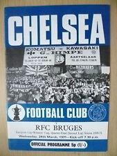 1971 European Cup Winner CupQuarter Final- CHELSEA v RFC BRUGES