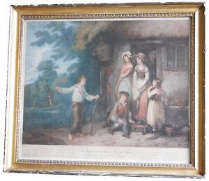 Orme, D after Bigg, W R 1794 A Shipwrecked Sailor Boy Stipple Engraving