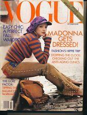 VOGUE October 1992 Magazine MADONNA Cover FASHION'S HIPPIE TRIP Steven Meisel F