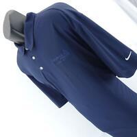 Mens Nike Golf Dri Navy Blue Performance Short Sleeve Polo Shirt Size 4XL XXXXL