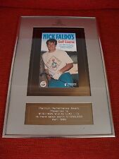 Rare British Videogram Association Platinum Performance Award Nick Faldo Golf