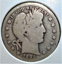 1894-S Silver Barber Half Dollar