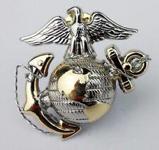 US Marine Corps officer Dress Cap Badge Pin Insignia USMC CAP BADGE Gold/Silver