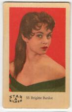 1960s Swedish Film Star Card Star Bilder A #55 French Sex Symbol Brigitte Bardot
