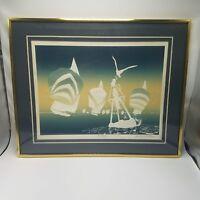 ROY WILLIAMS Embossed Serigraph SIGNED ~  Regatia Sailing COA c.1983