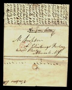 STAMPLESS 1840's COVER THOMPSONS LETTER OF NO IMPORTANCE