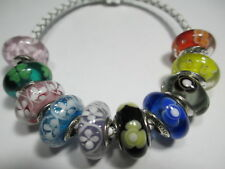 10 Pandora Silver 925 Ale Cherry Field of Daisy Spring Garden Murano Beads Charm