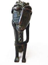 "Superb Benin Bronze of a seated male Nigeria African 5.75"" H"