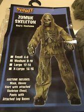 Zombie Skeleton Child's Costume, Medium 8-10