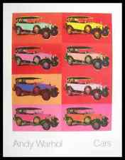Andy warhol cars Mercedes type 400 Année de construction 1925 x8 poster art imprimé & cadre 90x70cm