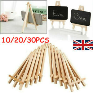 30X Mini Wooden Easel Table Wedding Picture Name Card Holder Display Small Stand