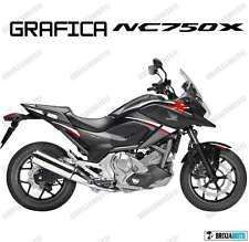 ADESIVI DECAL STICKERS HONDA NC750X NC 750 X RACING CARENA GRAFICA BIANCO ROSSO