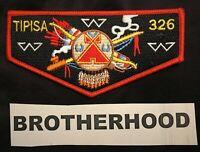 TIPISA OA LODGE 326 BSA CENTRAL FLORIDA COUNCIL BROTHERHOOD FLAP