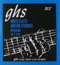 GHS 730 Brite Flats Flatwound Electric Guitar Strings 12-54 set 730