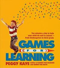 Games for Learning: Ten Minutes a Day to Help Your Child Do Well in School from
