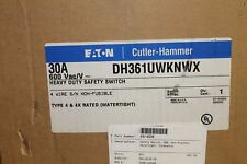 Cutler Hammer DH361UWKNWX 30A 600V Heavy Duty Safety Switch  Type 4