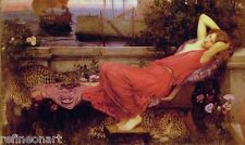 John William Waterhouse Ariadne Oil Painting Canvas Print 30x50cm
