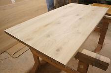 Tischplatte Arbeitsplatte Massivholzplatte Esstisch Eiche Rustikal 40mm roh Holz