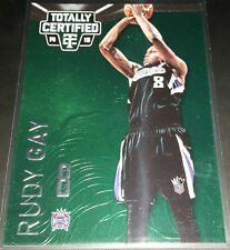 Rudy Gay 2014-15 Totally Certified PLATINUM GREEN Parallel Insert Card (#'d 5/5)