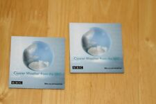 """BBC Weather Department Fridge Magnets """"Clearer Weather from the BBC"""" Vintage"""
