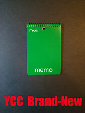 Mead Spiral Memo book, ruled 40s', open end, cover color Random, 4x6 in,1pk