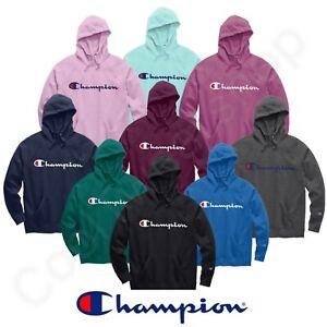 Champion Powerblend Women's Fleece Pullover Hoodies Script Logo GF934 Y07418