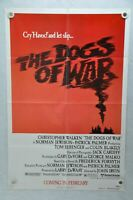 1980 The Dogs of War Original 1SH Movie Poster 27 x 41 Christopher Walken