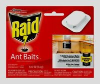4ct RAID Bait Station ANT BAIT Trap Killer Kills Queen & Colony 0.24 oz 71478