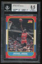 MICHAEL JORDAN 1986-87 Fleer #57 Rookie RC Chicago Bulls Graded BGS 8.5 NM-MT+