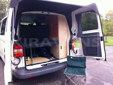 Barn door awning for VW T5 with spoilers (black) campervan