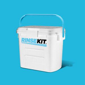 RINSEKIT - Die mobile Dusche (weiß) für Camping, Wassersport, Hunde, Angeln