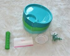 Pampered Chef Outdoor Party Plate Set - Corn Cob Nob - Can Strainer - Scraper
