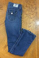 P3 Women's True Religion High Rise Boot Denim Jeans Sz 28 Blue Distressed