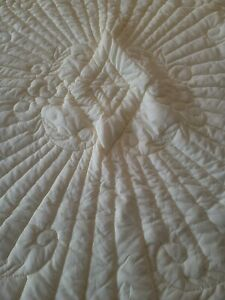 Baby Child Quilt Hand Stitched Vintage  Buttery Yellow Crib/Bed Cover Gorgeous☆