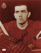 Maurice Richard Autographed Montreal Canadiens 11x14 Photo (JSA) Deceased