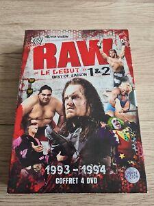 COFFRET 4 DVD RAW LE DEBUT BEST OF SAISON 1 ET 2 WWE CATCH VERSION FRANÇAISE