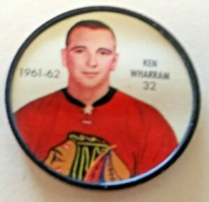 1961-62 Shirriff Coin:#32 Ken Wharram Chicago Black Hawks