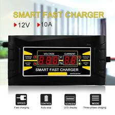 12V 10A Full Automatic Intelligent Smart Car Battery Charger Lead Acid/GEL LCD
