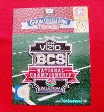 Official Vizio 2014 BCS National Championship Patch Florida State vs Auburn