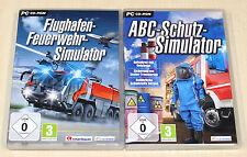 2 PC SPIELE BUNDLE - FLUGHAFEN FEUERWEHR & ABC SCHUTZ SIMULATOR - SIMULATION