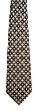 Men's New Neck Tie, Classic Gray Dark Red diamond check design by Pierre Cardin