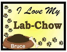 Lab-Chow Personalized I Love My Lab-Chow Magnet