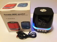 Bluetooth Bass Speaker FM/USB/Card SD/Light Mini Portable color Black
