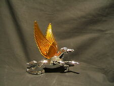 FLYING HORSE WITH AMBER LIGHT UP WINGS CAR MASCOT