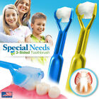 2-PK DenTrust  Special Needs 3-Sided Toothbrush  Child-Safe Caregiver Autistic