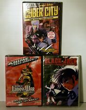 3 Anime DVD's - Cyber City, Black Jack, Test Drive  New Sealed  FREE SHIPPING !!
